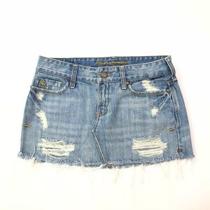 Abercrombie & Fitch Skirt Jean Distressed Vintage